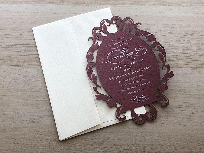 Lace Invitation Sample Paper