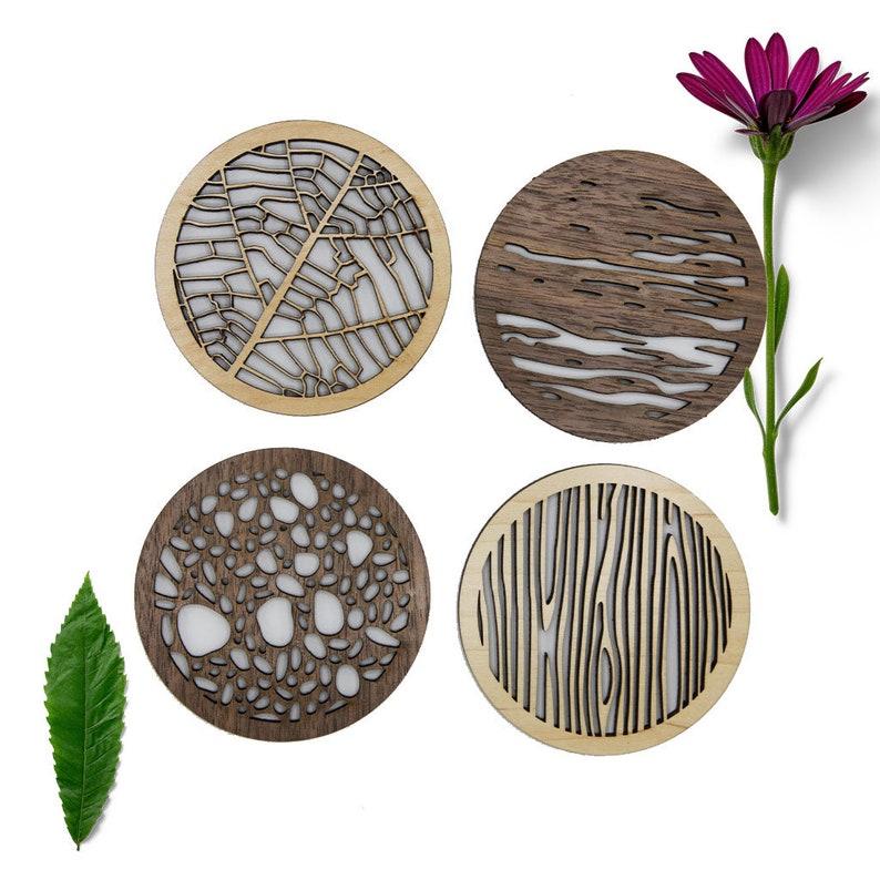 Wood Coaster Set image 0