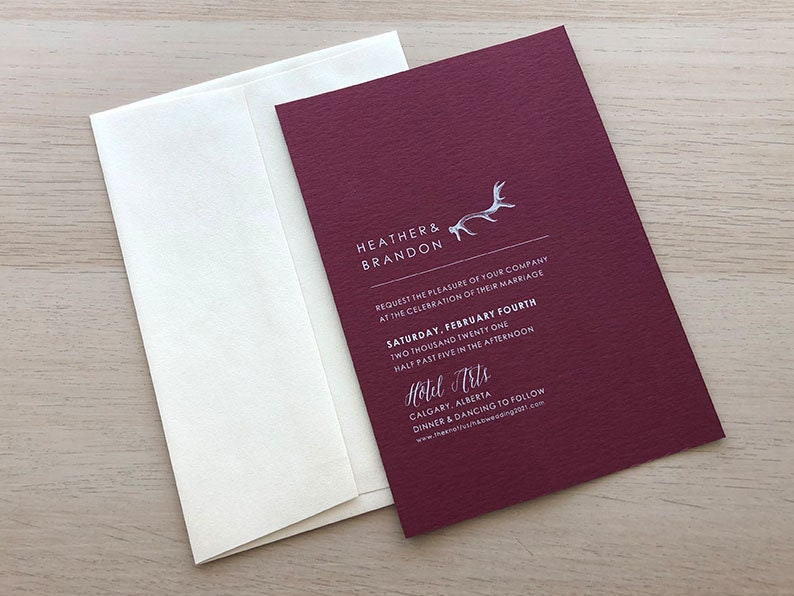 Antler Invitation Sample Paper