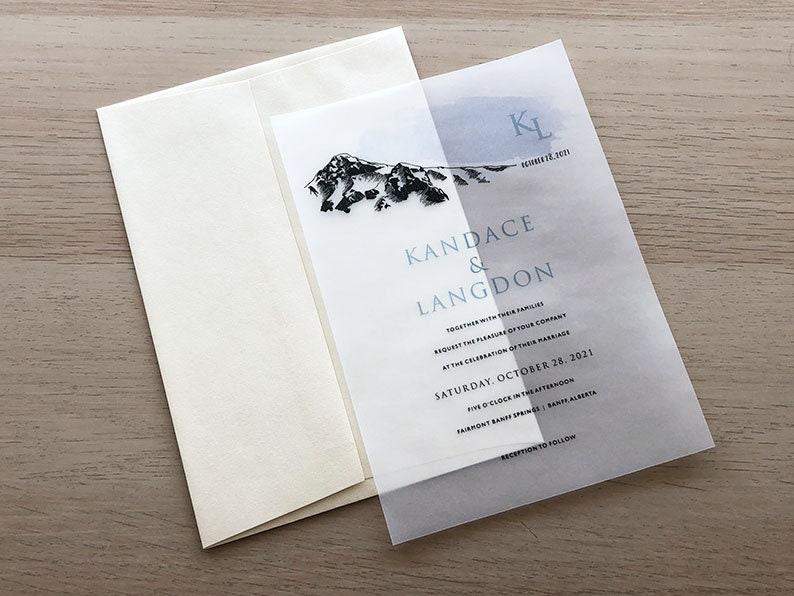 Mountain Invitation Sample Vellum