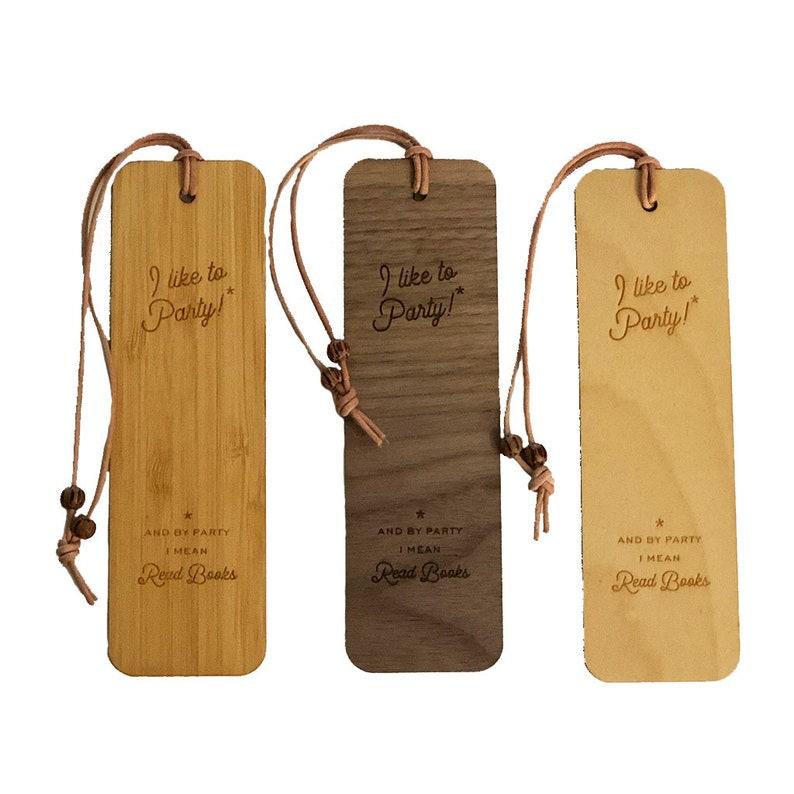 Wood Bookmark Party Tassel image 0