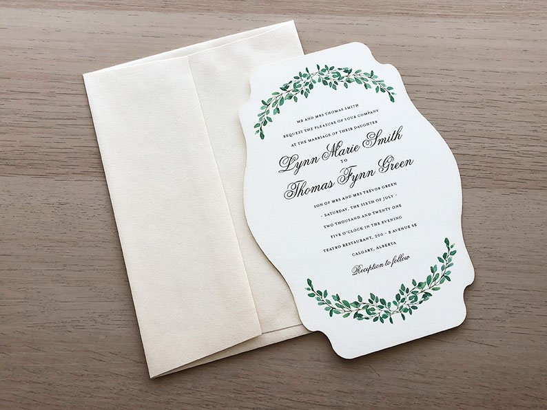 Leaves Invitation Sample Paper
