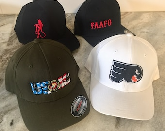 4f1d58af6 FlexFit custom embroidered cap/hat with your logo. Business, sports team,  special event/occasion, club