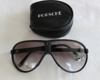 9cce6dd42f Vintage 1960 s black Porsche folding sunglasses with case