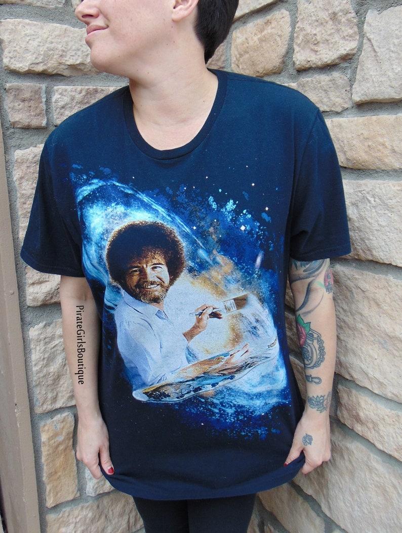 430e06906 Rare Galaxy Bob Ross Graphic Shirt Bob Ross Painting T-shirt | Etsy