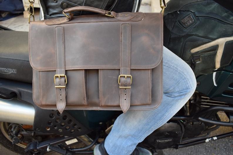 Men/'s Briefcase Leather Messenger  bag Mens leather bag,15 inch laptop bag, Leather Briefcase Briefcase Messenger bag