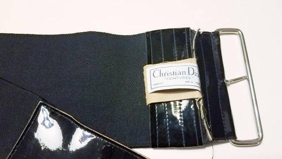 Christian Dior Wide Black Stretch Cinch Belt/Women