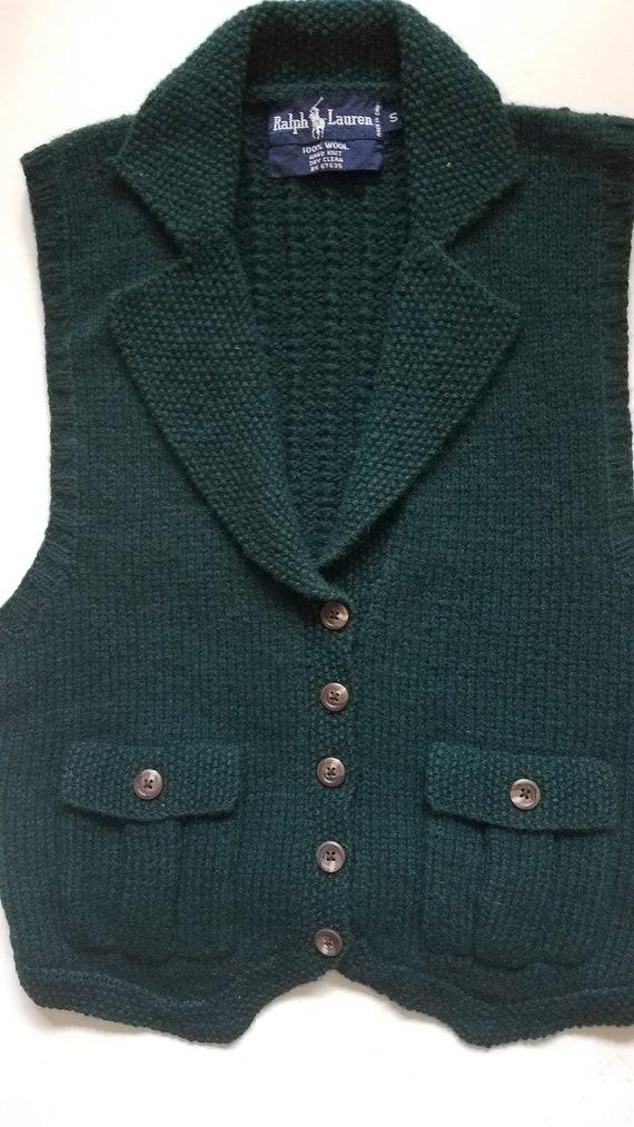 NWOT Vintage/Ralph Lauren Wool Vest/Hand Knit/Smal