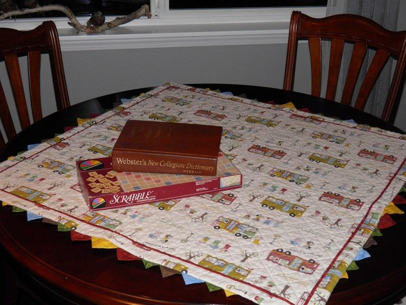 School theme table mat