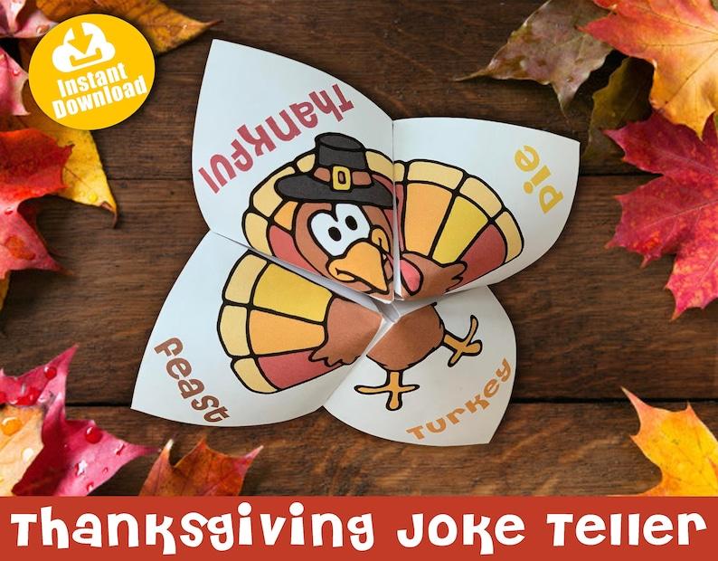 Thanksgiving Joke Teller Cootie Catcher Fortune Teller image 0