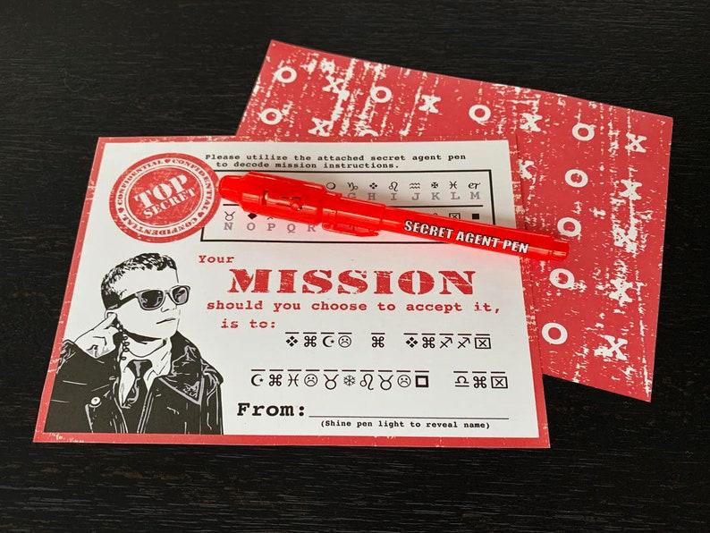 Secret Agent Valentine Printable. INSTANT DOWNLOAD. Spy image 0