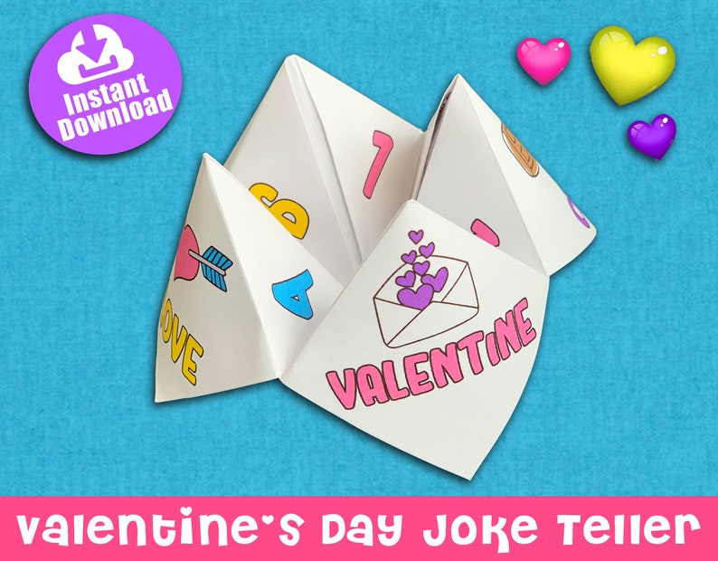 Valentine's Day Joke Teller Cootie Catcher Fortune image 0