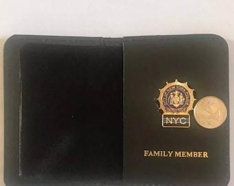 New York City Police Sergeant Family Member Money//CC Mini Pin Wallet CT-70