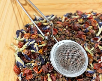 Globe Tea Infuser Ball Wand, Metal Mesh