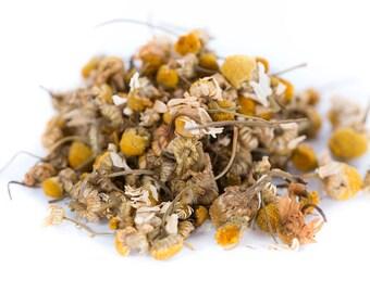 Organic Chamomile Flowers Tea, Loose Leaf, 4oz