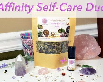 Affinity Herbal Tea + Custom Essential Oil COMBO, 8oz tea, 10ml oil
