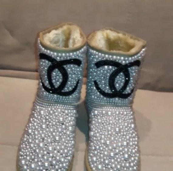 b0acd23e08fe7f Bottes d'hiver avec des bottes avec des perles Perles Ebloui Ebloui Ebloui  bottes bottes perle bling bottes chaussures perle avec des bottes de bling  perles ...