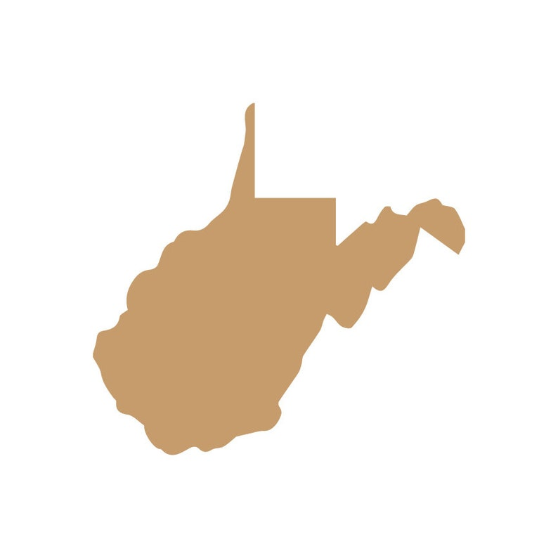 West Virginia Cut Out Unfinished State Cutout Wood Shape State Shape Craft Supply