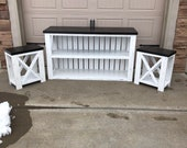 Distressed TV Stand and End Tables