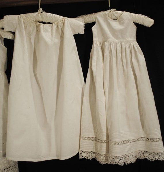 Antique Victorian Childs Girl Cotton White Slips … - image 3