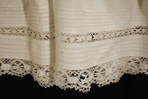 Antique Victorian Childs Girl Cotton White Slips … - image 7