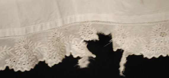 Antique Victorian Childs Girl Cotton White Slips … - image 6