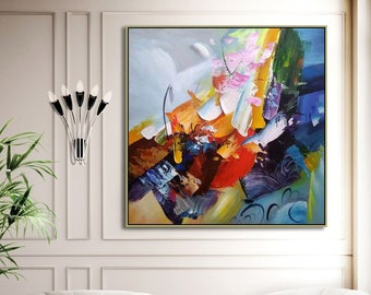 Abstract Painting Hand Painted Canvas Art Original Oil Wall Home Decor Custom