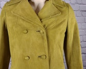 Vintage Goldwaters Arizona Green Suede Coat, 4