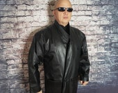 Outerbound by HMS Full Length Leather Coat, Small