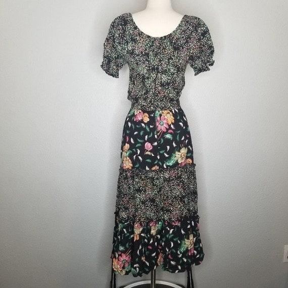 Vintage Union Made Boho Cottagecore Prairie Dress… - image 3