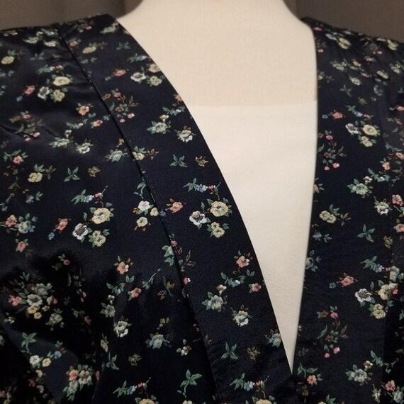 Vintage 80s Cottagecore Ditsy Floral Midi Dress L - image 3
