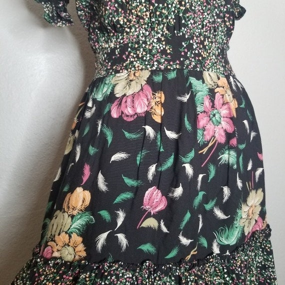 Vintage Union Made Boho Cottagecore Prairie Dress… - image 6