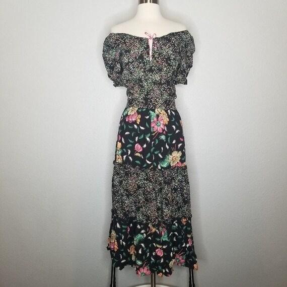 Vintage Union Made Boho Cottagecore Prairie Dress… - image 4