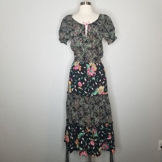 Vintage Union Made Boho Cottagecore Prairie Dress… - image 1