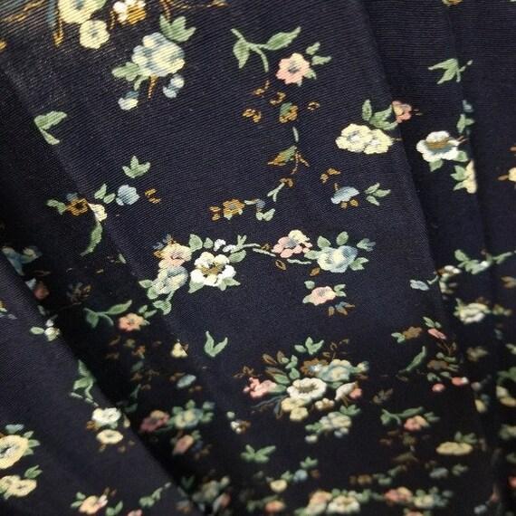 Vintage 80s Cottagecore Ditsy Floral Midi Dress L - image 9