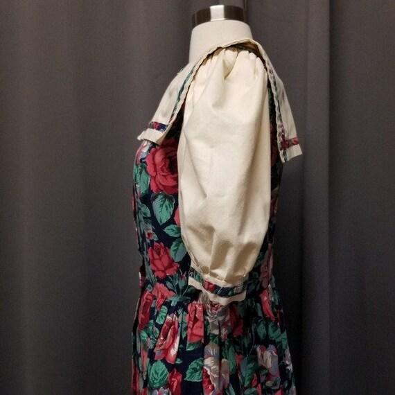 Handmade Vintage Floral Cottagecore Sailor Dress M - image 5