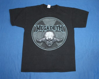 2d1354b54b63 2009 Megadeth shirt Rattlehead tour shirt thrash metal band shirt Men s  size l
