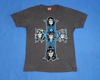 0abb43fe7e6 Guns n roses shirt Appetite for Destruction album cover shirt velvet shirt  american rock band shirt heavy metal glam rock size M