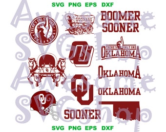 33f60d20b47 OU Oklahoma Sooners svg Boomer Sooner Football Basketball sign shirt svg  png dxf eps cut files silhouette cameo cricut