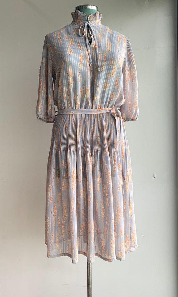 80s day dress/80s country dress/80s boho dress/80s