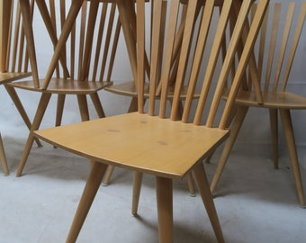 Ten chairs from Johannes Foersom & Peter Hiort-Lorenzen for Fredericia, 90s, a set of 10