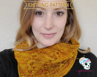 19002208d KNITTING PATTERN - Honeycomb Cable Cowl