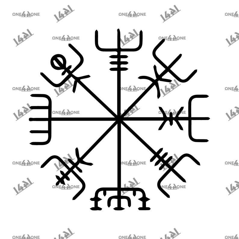 Viking Compass Vegvisir Celtic Viking Rune Svg Cut File