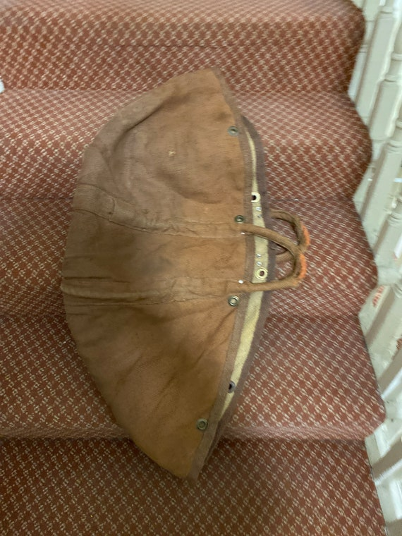 French vintage canvas tool bag/shopping bag circa