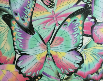 0.5m Cotton, Patchwork, Butterfly, Robert Kaufman