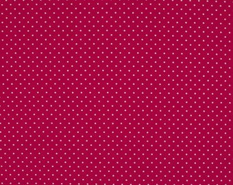 0.5 m cotton fabric, dots, pink
