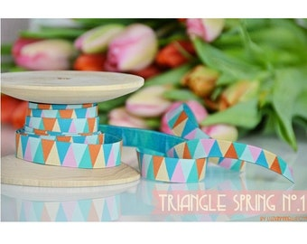 1 m Webband, Triangle, Triangle, Color Mix