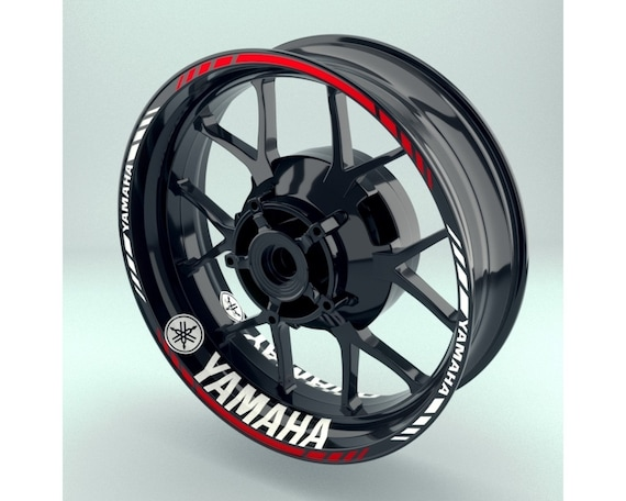 Gloss Black Motorcycle Inner Rim Tape Sticker Decal for Yamaha YZF R3