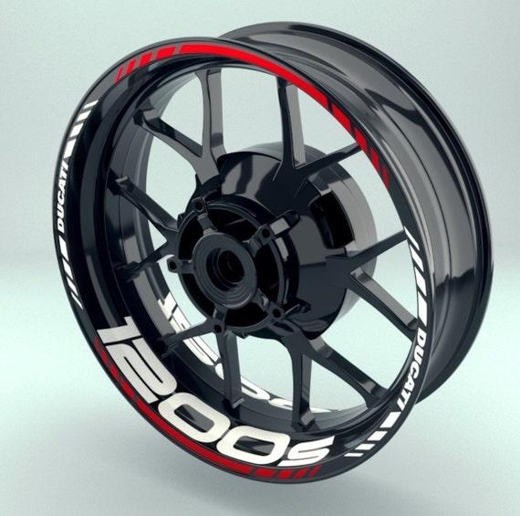 Ducati 1200s Wheel Decals Rim Stickers Racing Sticker Set Rims Stripes Ducati 1200 S Panigale 899 847 839 Monster Multistrada Hyperstrada