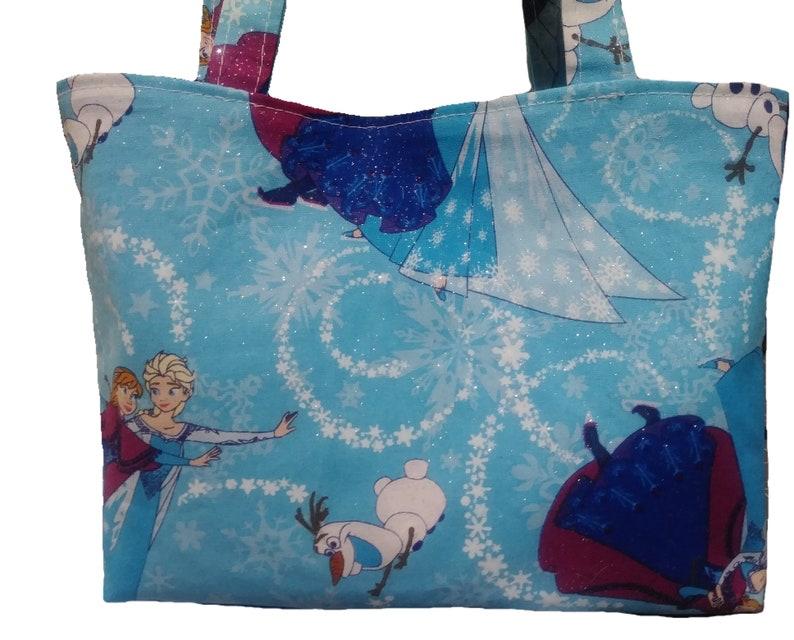 Women/'s girls small Frozen mini bundle tote handbag change purse chapstick holder hair bow hair scrunchie Ready made